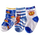 3 pairs of boys anti slip baby socks children from 1 to 3 years old | item 34