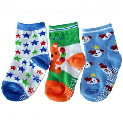 3 pairs of boys anti slip baby socks children from 1 to 3 years old | item 35