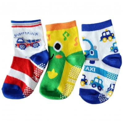 3 pairs of boys anti slip baby socks children from 1 to 3 years old | item 33