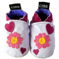 Soft leather baby shoes girls | Flowers by Léa