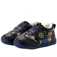 YXY - Chaussures semelle souple | Baskets noir et militaire