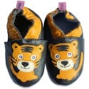 Soft leather baby shoes boys | Light tiger
