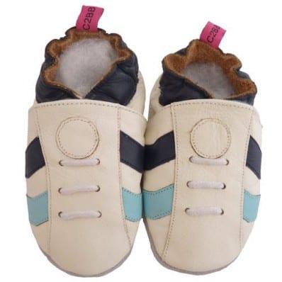 Zapitillas de bebe de cuero suave niños antideslizante   Zapatilla de deporte blancas
