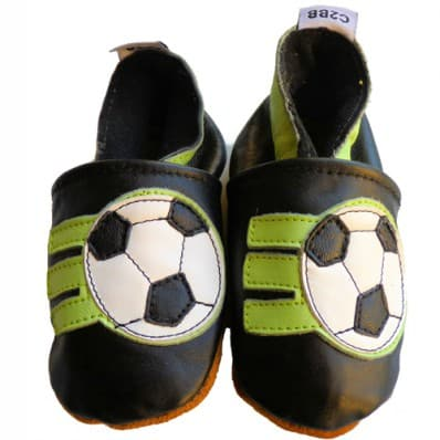 Soft leather baby shoes boys | Football