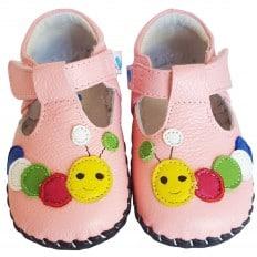 FREYCOO - Chaussures bebe premiers pas cuir souple   Babies chenille