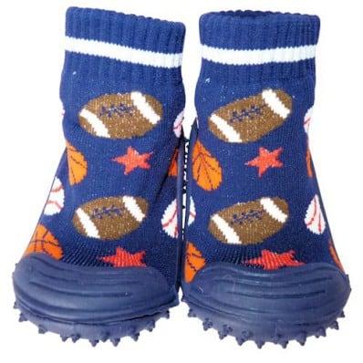 Hausschuhe - Socken Baby Kind geschmeidige Schuhsohle Junge   Sportballons