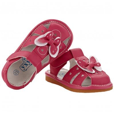 YXY - Squeaky Leather Toddler Girls Shoes | Pink sandals
