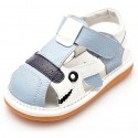 YXY - Squeaky Leather Toddler boys Shoes | Blue and white sandals