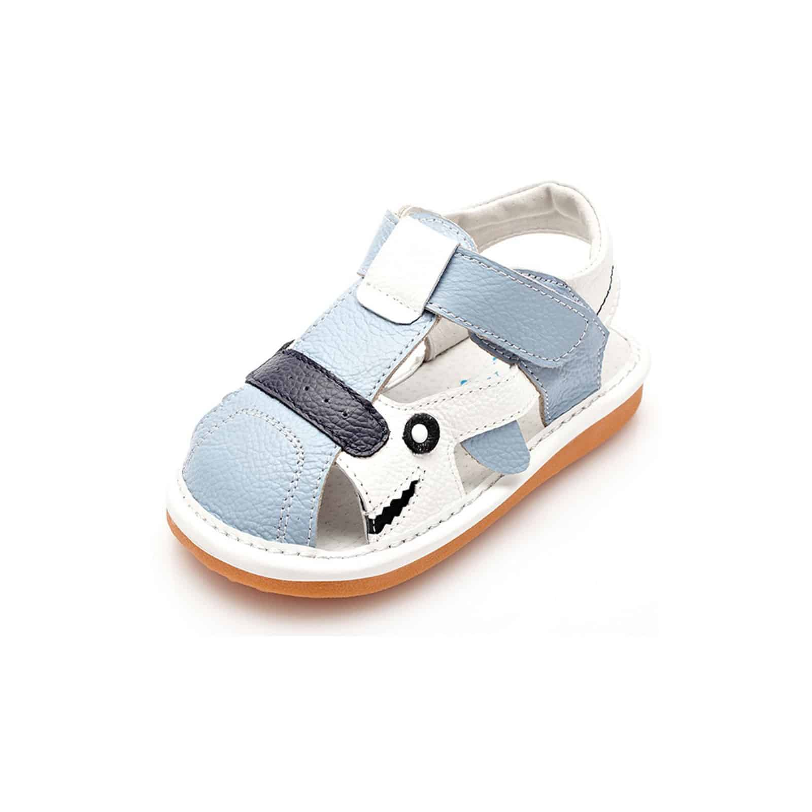 Blue Qcwwdo White And Squeaky Leather Yxy Boys Shoes Toddler Sandals lKcTFJ13