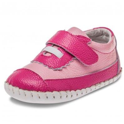 Little Blue Lamb - Krabbelschuhe Babyschuhe Leder - Mädchen | Rosa und fushia sneakers