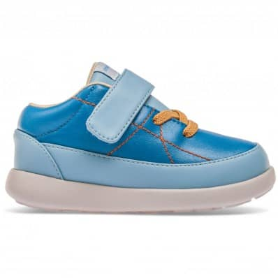 Chaussures semelle souple baskets scratch et lacets