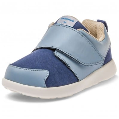 Little Blue Lamb - Soft sole boys Toddler kids baby shoes OG | Blue sneakers