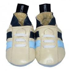 Chaussons bébé en cuir souple | Basket beige