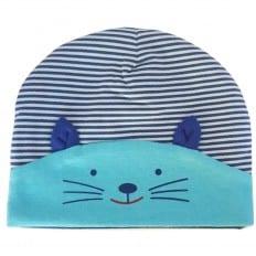 Bonnet bébé petit chat - taille unique | Bleu ciel