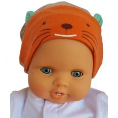 C2BB - Baby hat small cat - one size | Blue and orange