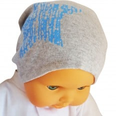 C2BB - Capo del bebé - Talla única | Estrella azul gris