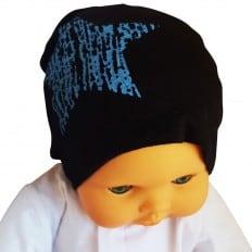 Bonnet bébé - taille unique | Noir étoile bleue