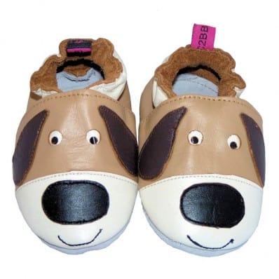 Zapitillas de bebe de cuero suave niños antideslizante | Perro grandes orejas