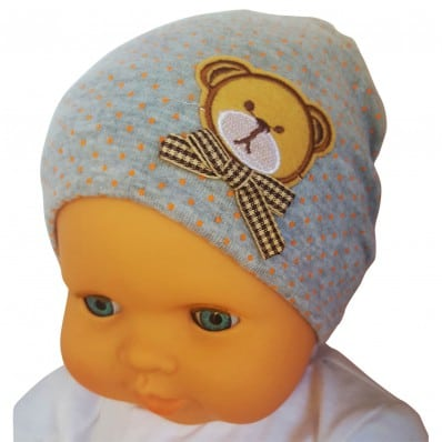 C2BB - Baby hat teddy bear- one size | Grey