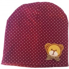 C2BB - Baby hat teddy bear- one size | Dark purple