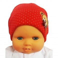 C2BB - Capo del bebé osito de peluche - Talla única | Rojo