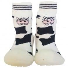 Calcetines con suela antideslizante para niñas   Vaca