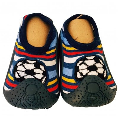 Scarpine calzini antiscivolo bambini - ragazzo | Calcio strisce