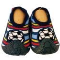 Calcetines con suela antideslizante para niños   Fútbol rayas