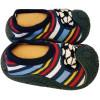 Hausschuhe - Socken Baby Kind geschmeidige Schuhsohle Junge   Fußball gestreift