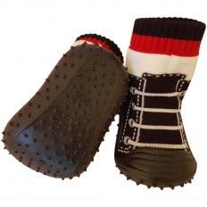 Chaussons-chaussettes bébé antidérapants semelle souple | Basket noires