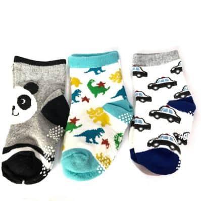 3 paires de chaussettes antidérapantes bébé enfant de 1 à 3 ans | Lot 50