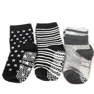 3 paires de chaussettes antidérapantes bébé enfant de 1 à 3 ans | Lot 53