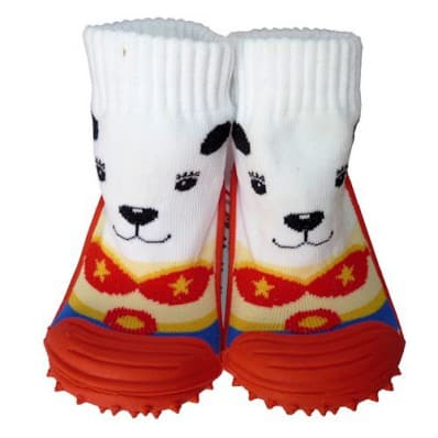 Baby boys Socks shoes with grippy rubber | Small dog of circus