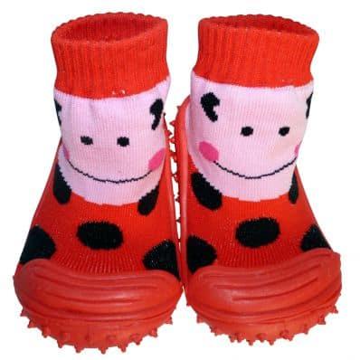 Calcetines con suela antideslizante para niñas | Señora mariquita