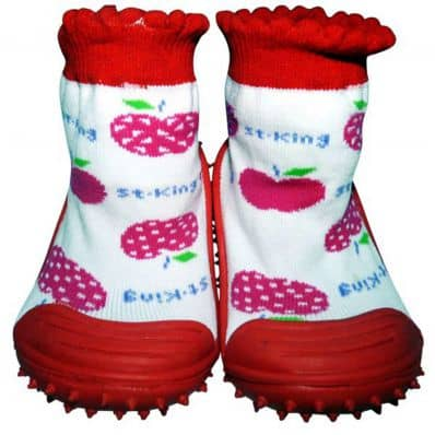 Baby girls Socks shoes with grippy rubber | Small fruits