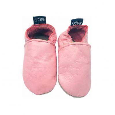 Zapitillas de bebe de cuero suave niñas antideslizante | Guindilla de Espelette