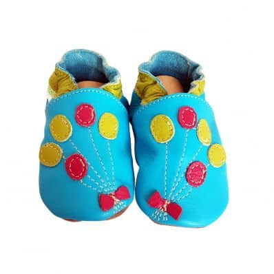 Chaussons en cuir souple BALLONS C2BB - chaussons, chaussures, chaussettes pour bébé