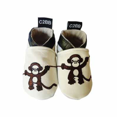 Soft leather baby shoes boys | Small chimpanzee