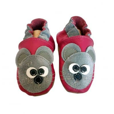 Soft leather baby shoes girls | Grey Mouse