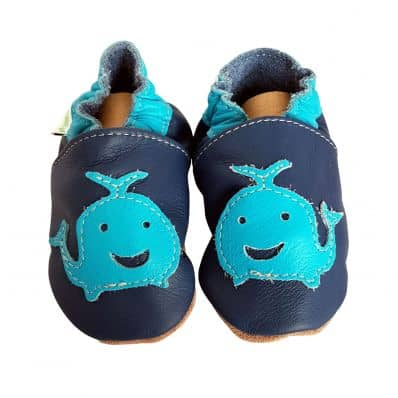 Soft leather baby shoes boys | Whale
