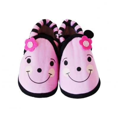 Soft cotton baby girls shoes | Pink flower
