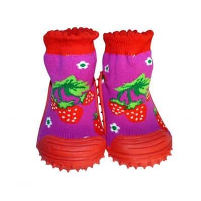 Scarpine calzini antiscivolo bambini - ragazza | Fragola