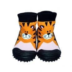 Calcetines con suela antideslizante para niños | Tigre