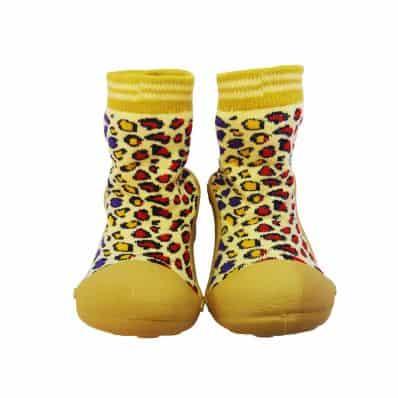 Hausschuhe - Socken Baby Kind geschmeidige Schuhsohle Mädchen | Leopard