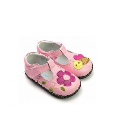 Chaussures premiers pas cuir souples Babies abeille C2BB - chaussons, chaussures, chaussettes pour bébé