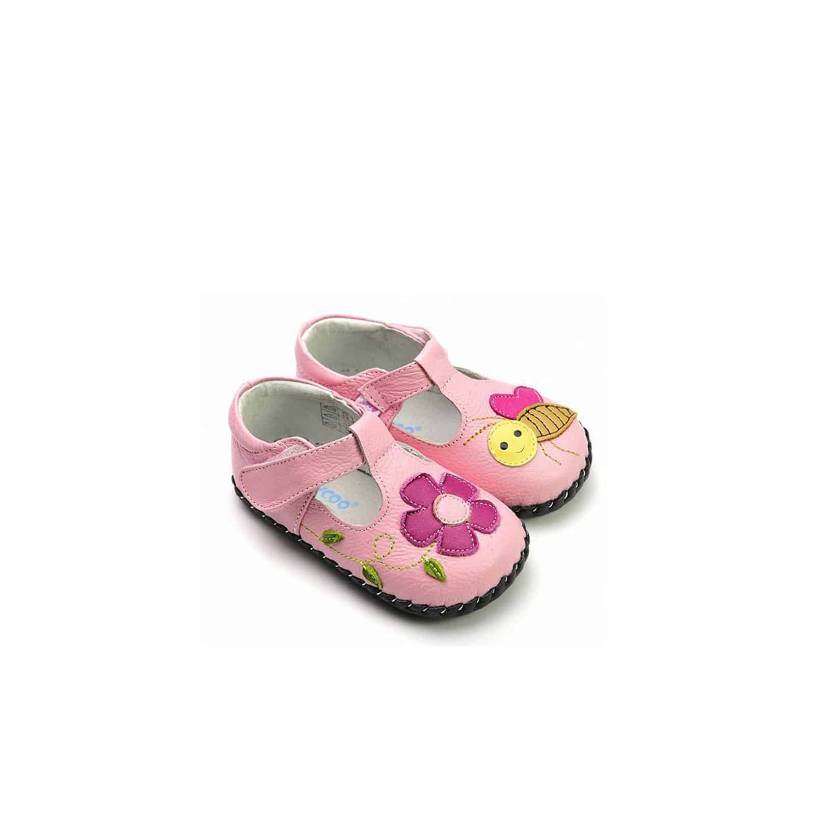 2e0dad023c38c Chaussures premiers pas cuir souples Babies abeille