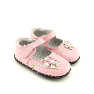 FREYCOO - Baby girls first steps soft leather shoes | Pink shoes