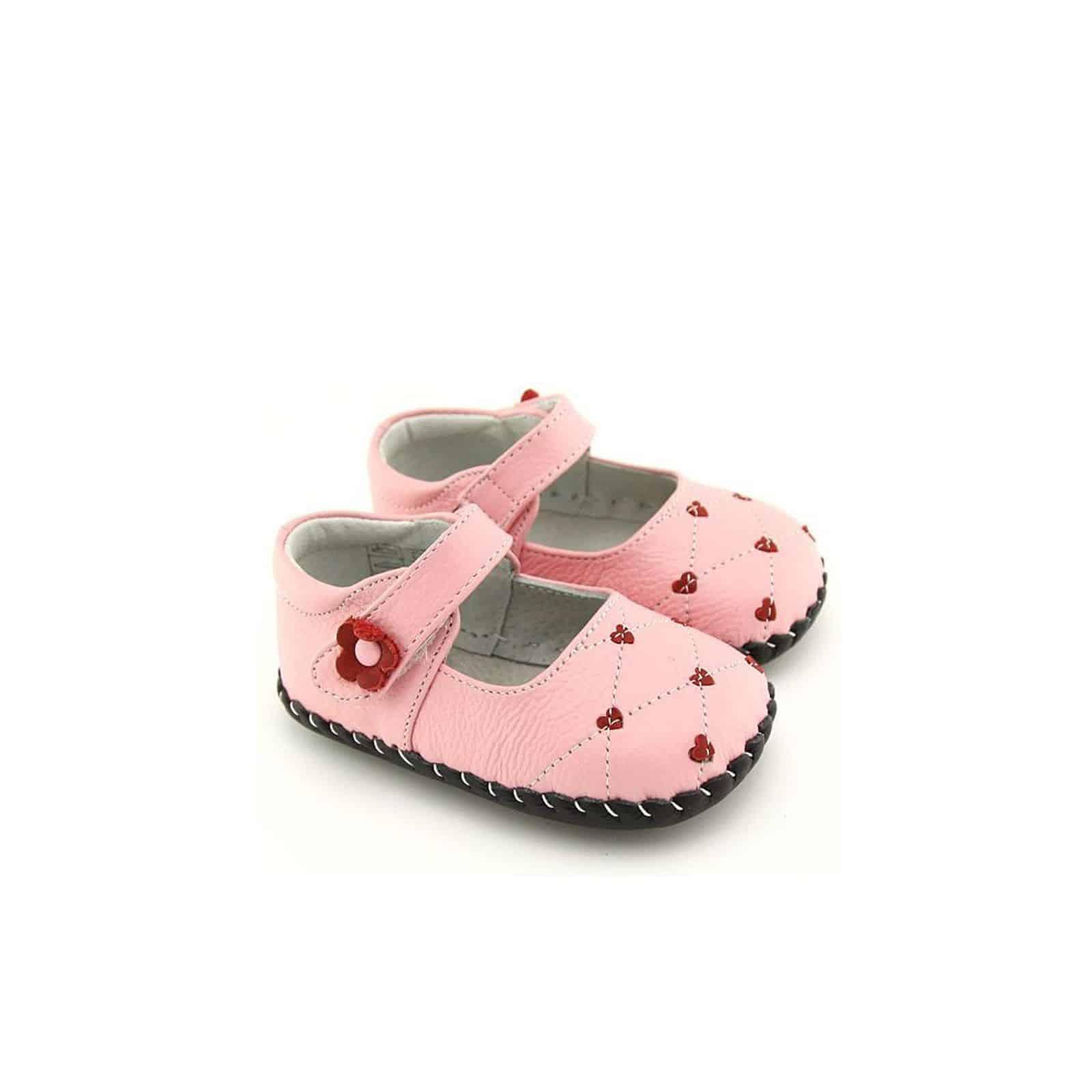bdcae4270f99c Chaussons bébé cuir souple apprentissage de la marche
