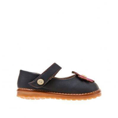 Little Blue Lamb - Zapatos de cuero chirriantes - squeaky shoes niñas | Gris margarita rosa