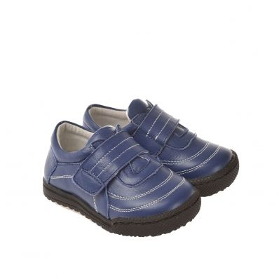 CAROCH - Krabbelschuhe Babyschuhe Leder - Jungen | Blaue Turnschuhe